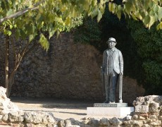 Sculpture tribute to Francesc Cabanas
